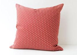 Quadratisches Kissen Asanoha rot