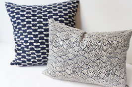 SHIKAKU Cushion Seigaiha Indigo blue