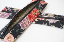 Pencil case ENPITSU Hanazono Black