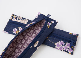 Pencil case ENPITSU Yozakura Blue