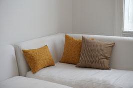 SHIKAKU cushion Asanoha Khaki
