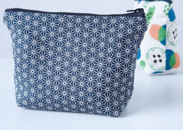 Cosmetic case BENI Asanoha Navy