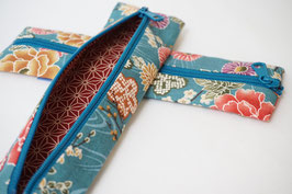 Pencil case ENPITSU Hanazono Turquoise