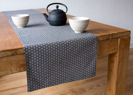 YASUO Table runner Asanoha Rot & Indigo blue