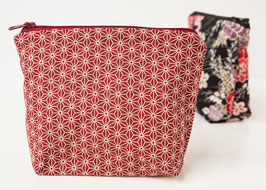 Cosmetic case BENI Asanoha Red