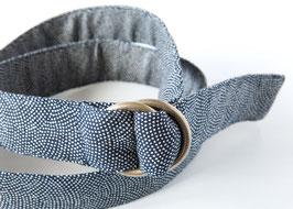 Belt MACHI Samekomon Indigo blue