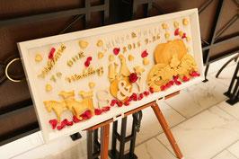 商品名 かぼちゃの馬車とシンデレラ クッキー風粘土で作ったウェルカムボードなど全品オーダーにて受付中