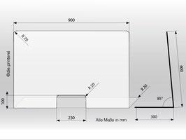 Schutzwand aus Plexiglas®  Basic L
