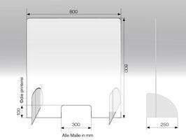 Schutzwand aus Plexiglas® Stecksystem M