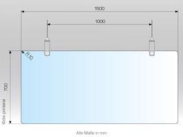 Spuckschutz Abhängung aus Plexiglas®