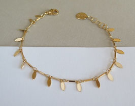 Bracelet NAVETTES plaqué or