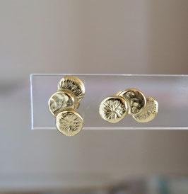 Boucles d'oreilles Séléné plaqué or