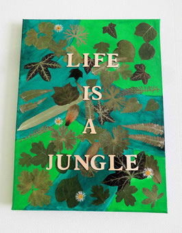Tableau artisanal - Life is a jungle