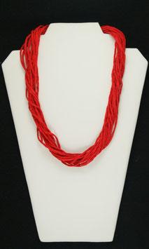 Sinnlich Hellrote Seidenkette, 57 cm lang