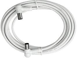Empfängeranschlusskabel DVB-C Winkelstecker - Winkelkupplung