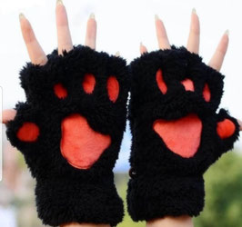 Zwarte handschoenen.