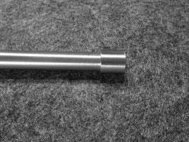Edelstahl Deko-Gardinenstange / Beschwerung mit dekorativen geraden Endkappen 12 mm