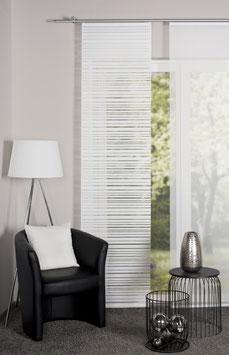 Schiebegardine Halbtransparent  wollweiß 245 x 60 cm