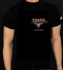 TOKEN T-Shirt mit Logo-Aufdruck vorne UND hinten.