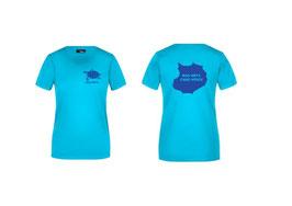 T-Shirt Frauen turquoise türkis