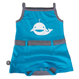 Romper jurkje aqua dolfijn