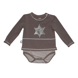 Romper lange mouw taupe sheriff