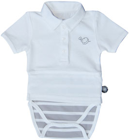 Romper polo wit