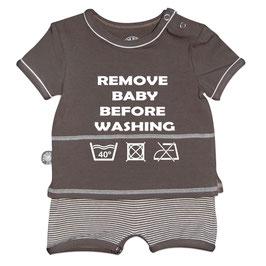Romper korte mouw taupe remove baby