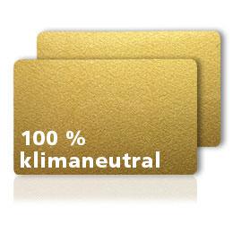 Laminierte Plastikkarten GOLD glänzend