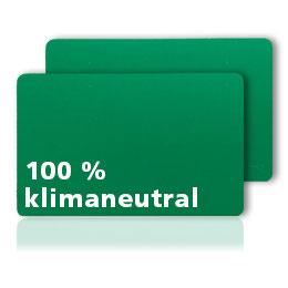 Laminierte Plastikkarten grün durchgefärbt