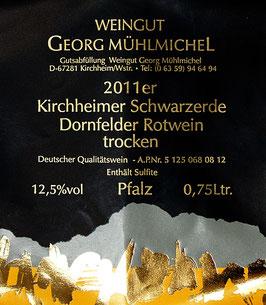 Dornfelder Rotwein, trocken, QbA