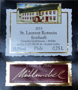 St. Laurent Rotwein feinherb QbA