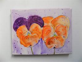 "Blume ""Duo Stiefmütterli"" orange"
