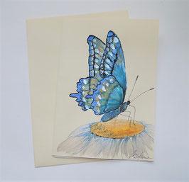 """Karte """"Schmetterling (blau) auf Margarite"""""""
