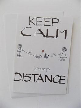 """Karte """"keep distance"""""""