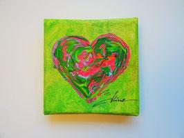 """Minis - """"Herz"""" neon grün"""