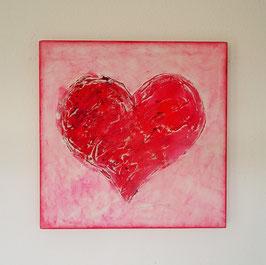 """Herz """"think pink"""""""