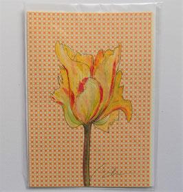 """Karte """"Papageien Tulpe"""" gelb"""