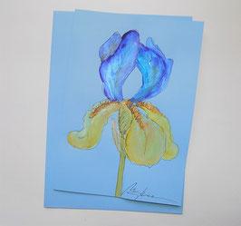 "Karte ""Iris (blau-gelb)"""