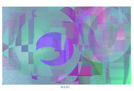 抽象画5枚セット