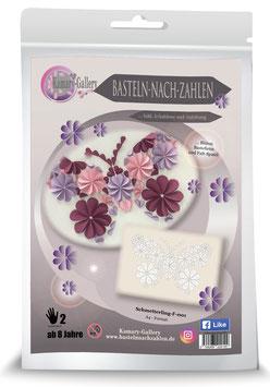 Basteln nach Zahlen Motiv Schmetterling rosa Mädchen, 21x30 cm - ab 8 Jahre* - Art.Nr. BS-007