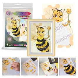 Basteln nach Zahlen Junior Motiv Biene, 21x30 cm - ab 6 Jahre* - Art.Nr. BS-J20