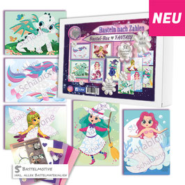 Bastel-Box Fantasy, 5 x Bastelspaß für Kinder ab 4 + 6 Jahre zu einem Preis* - Art.Nr. BB-F02, Art.Nr. BB-F03