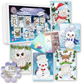 Bastel-Box Winter, 5 x Bastelspaß für Kinder ab 6 Jahre zu einem Preis* - Art.Nr. BB-W01