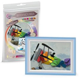 Basteln nach Zahlen Junior Motiv Regenbogen Flieger, 21x30 cm - ab 4 Jahre* - Art.Nr. BS-R04