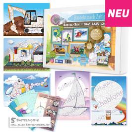 Bastel-Box Bau Land Luft, 5 x Bastelspaß für Kinder ab 4 + 6 Jahre zu einem Preis* - Art.Nr. BB-B01, Art.Nr. BB-B02
