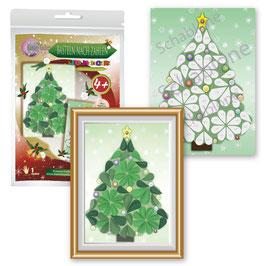 Basteln nach Zahlen Junior Motiv Weihnachtsbaum, 21x30 cm - ab 4 + 6 Jahre* - Art.Nr. BS-J35, Art.Nr. BS-J41