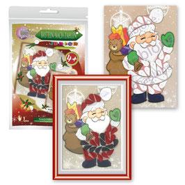 Basteln nach Zahlen Junior Motiv Weihnachtsmann, 21x30 cm - ab 4 + 6 Jahre* - Art.Nr. BS-J34, Art.Nr. BS-J40