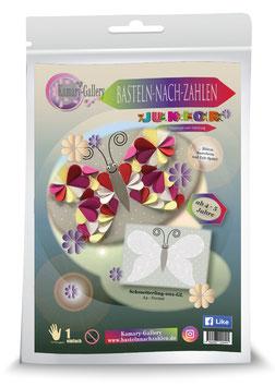 Basteln nach Zahlen Junior Motiv Schmetterling grau, 21x30 cm - ab 4+6 Jahre* - Art.Nr. BS-J07, Art.Nr. BS-J15