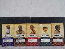 5 Tablettes de chocolat MENAKAO ( au choix)